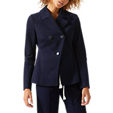 Buy Jigsaw Modern Twill Empire Jacket, Dark Navy Online at johnlewis.com