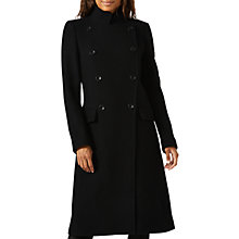 Buy Jigsaw Maritime Coat, Black Online at johnlewis.com