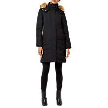 Buy Warehouse Clean Fitted Wadded Coat, Black Online at johnlewis.com