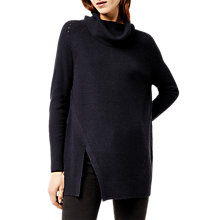 Buy Warehouse Cowl Neck Jumper, Navy Online at johnlewis.com