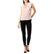 Buy Coast Courtney Ruffle Top, Blush Online at johnlewis.com