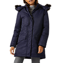 Buy Jigsaw Padded Snow Parka, Navy Online at johnlewis.com