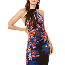 Buy Karen Millen Midnight Floral Print Pencil Dress, Black/Multi Online at johnlewis.com