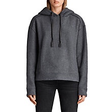 Buy AllSaints Gilda Hoodie, Charcoal/Cinder Online at johnlewis.com
