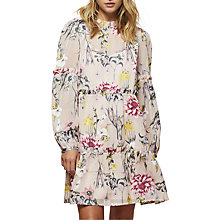 Buy Miss Selfridge Floral Burnout Smock Dress, Multi Online at johnlewis.com