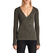 Buy AllSaints Faria Wool Blend Two Way Jumper Online at johnlewis.com