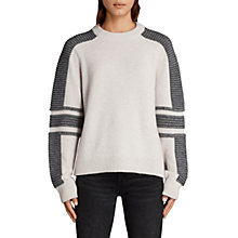 Buy AllSaints Harley Crew Neck Jumper Online at johnlewis.com