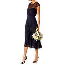 Buy Coast Cleo Lace Midi Dress, Navy Online at johnlewis.com