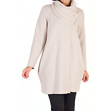 Buy chesca Cable Collar Cocoon Coat, Oatmeal Online at johnlewis.com