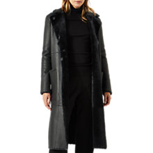 Buy Jigsaw Reversible Sheepskin Coat, Shadow Grey Online at johnlewis.com