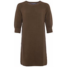 Buy French Connection Mozart Ripple Jumper Dress, Olive Night Online at johnlewis.com