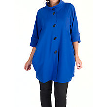 Buy Chesca Stand Collar Raglan Cocoon Coat, Sapphire Online at johnlewis.com