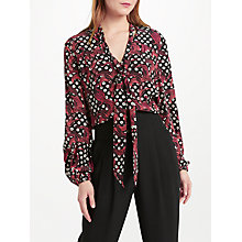 Buy Somerset by Alice Temperley Banana Leaf Print Blouse, Black Online at johnlewis.com