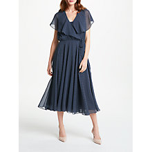 Buy Bruce by Bruce Oldfield Spot Wrap Over Tie Waist Dress, Navy Online at johnlewis.com