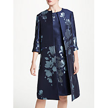 Buy Bruce by Bruce Oldfield Jacquard Print Frock Coat, Navy/Ivory Online at johnlewis.com