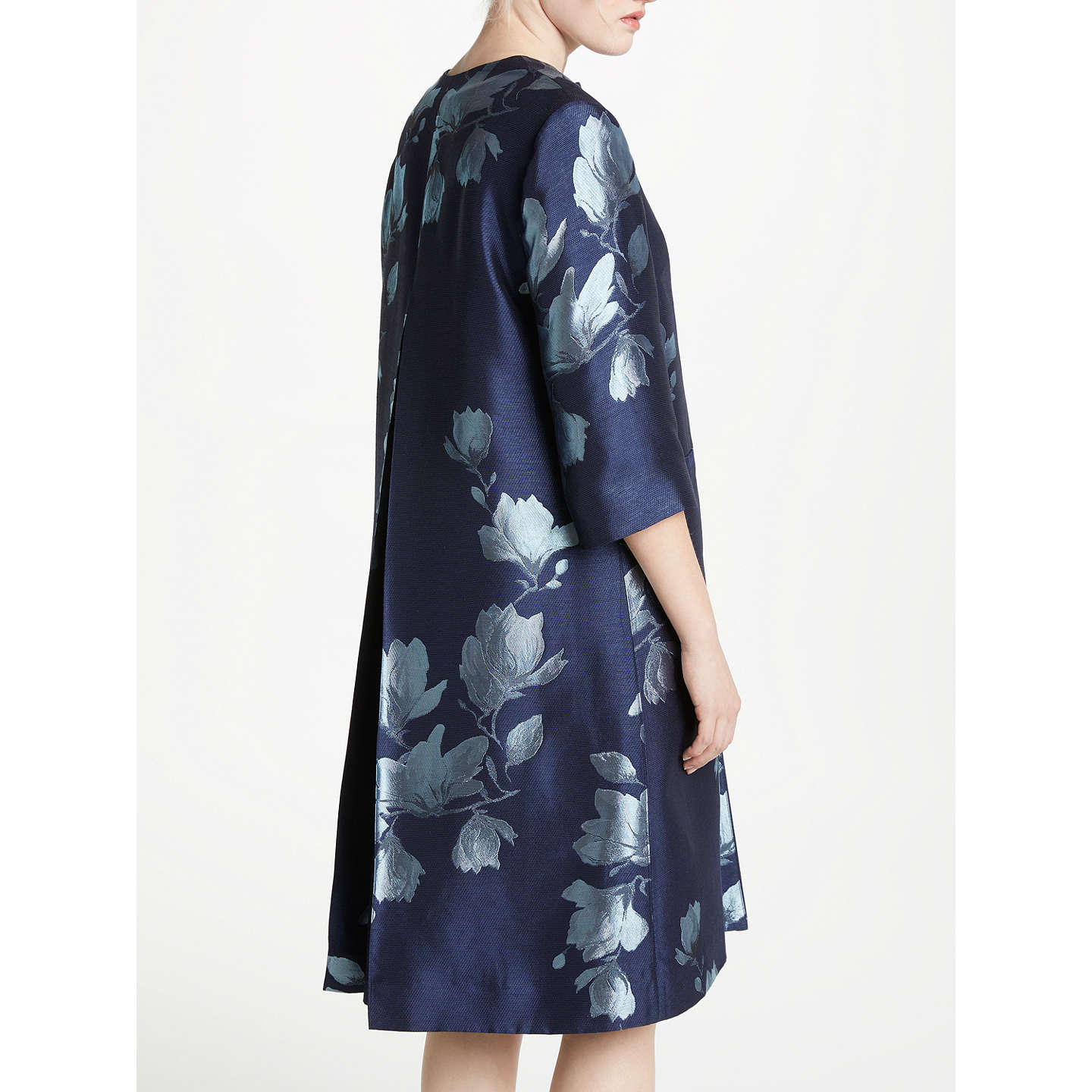 BuyBruce by Bruce Oldfield Jacquard Print Frock Coat, Navy/Ivory, 8 Online at johnlewis.com