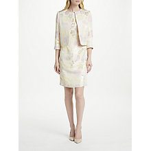 Buy Bruce by Bruce Oldfield Jacquard Fitted Jacket, Ivory/Silver Online at johnlewis.com