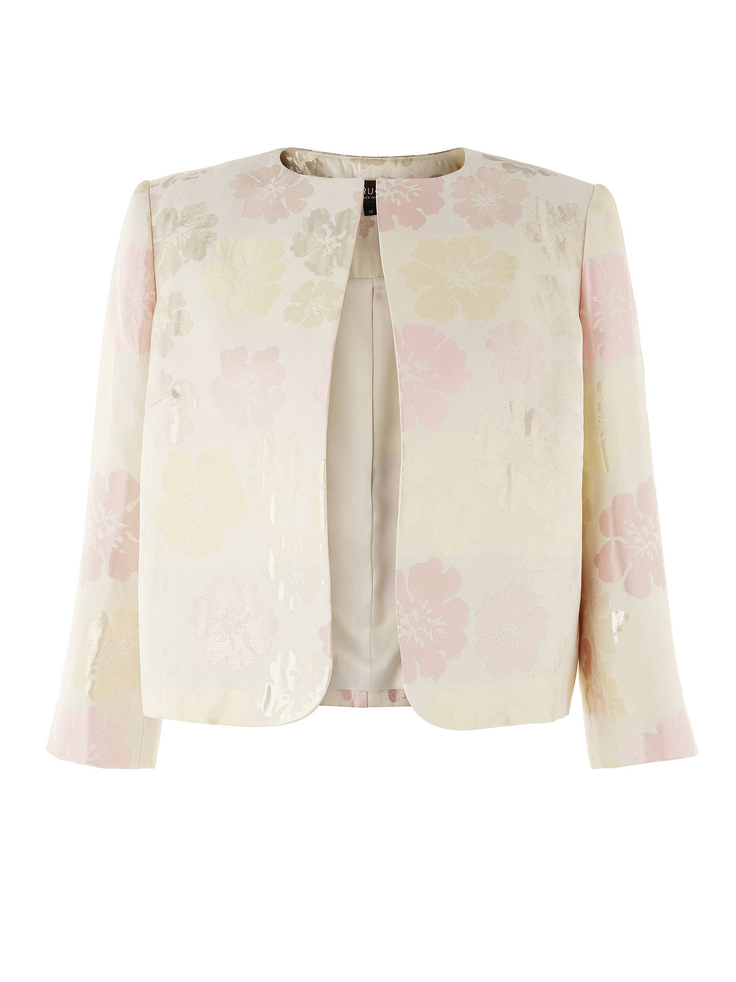 Buy Bruce by Bruce Oldfield Jacquard Fitted Jacket, Pink, 16 Online at johnlewis.com