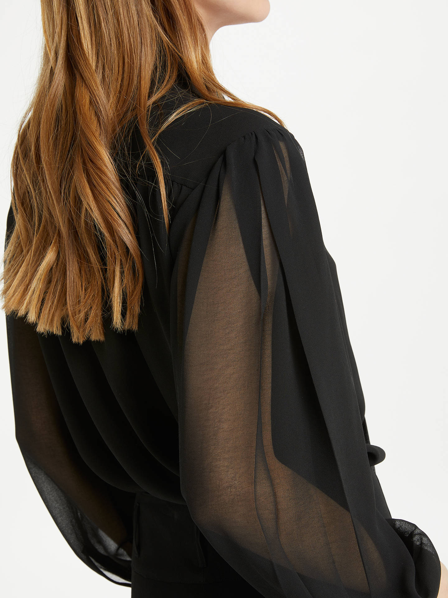 BuySomerset by Alice Temperley Tie Pleat Sleeve Blouse, Black, 8 Online at johnlewis.com
