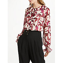 Buy Somerset by Alice Temperley Banana Leaf Tie Blouse, Nude Online at johnlewis.com