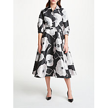 Buy Bruce by Bruce Oldfield Floral Jacquard Dress, Charcoal Online at johnlewis.com