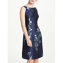 Buy Bruce by Bruce Oldfield Jacquard Fit And Flare Dress, Navy Online at johnlewis.com