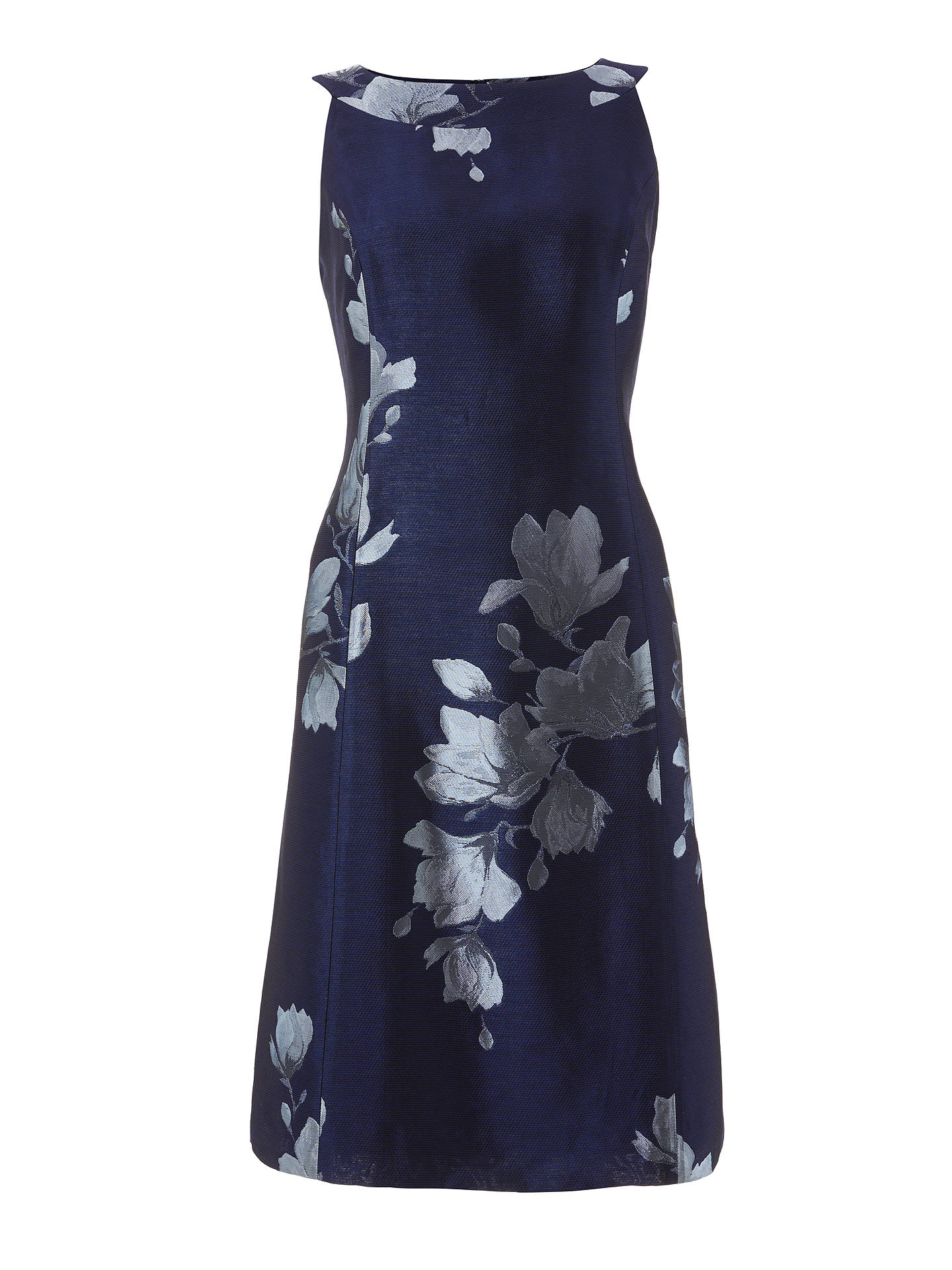 BuyBruce by Bruce Oldfield Jacquard Fit And Flare Dress, Navy, 10 Online at johnlewis.com