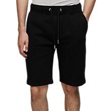 Buy Reiss Alistar Jersey Shorts, Black Online at johnlewis.com