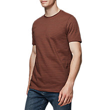 Buy Reiss Taylor T-Shirt, Orange Online at johnlewis.com