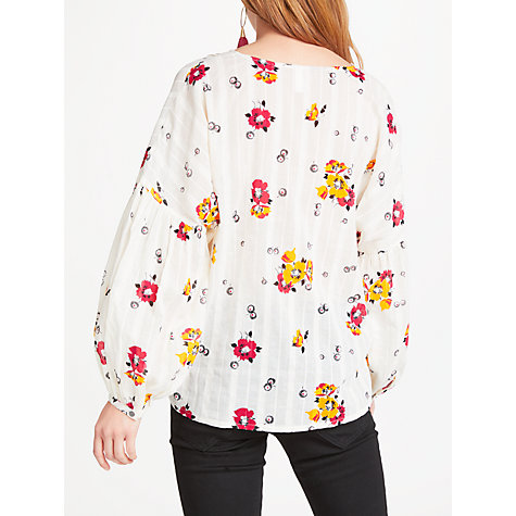 Buy AND/OR Pandora Floral Print Blouse, Multi Online at johnlewis.com