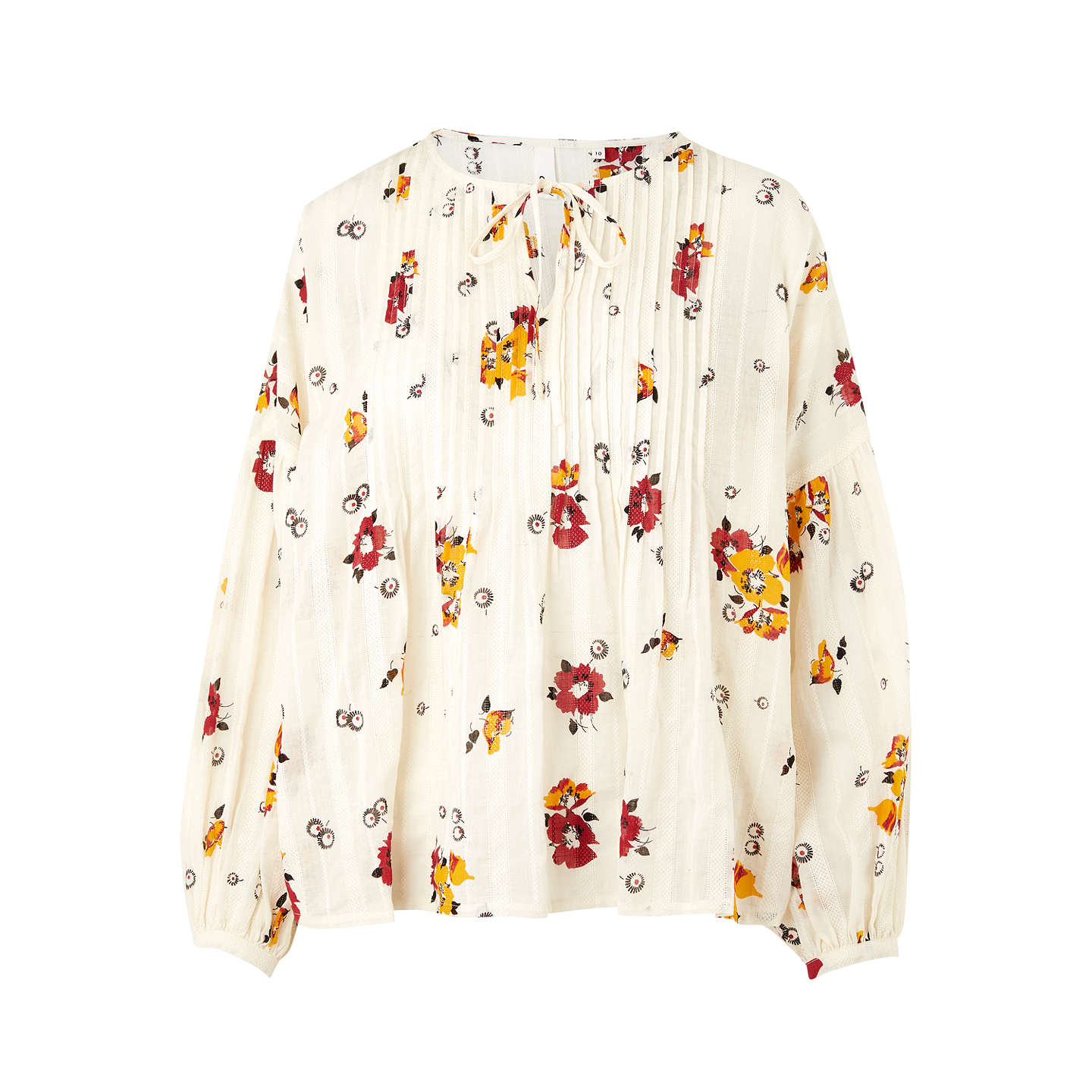 BuyAND/OR Pandora Floral Print Blouse, Multi, 8 Online at johnlewis.com