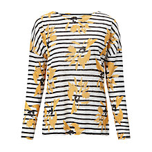 Buy Collection WEEKEND by John Lewis Artist Floral Drop Sleeve Top, White/Yellow Online at johnlewis.com