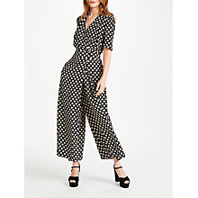 Buy Somerset by Alice Temperley Printed Jumpsuit, Black Online at johnlewis.com
