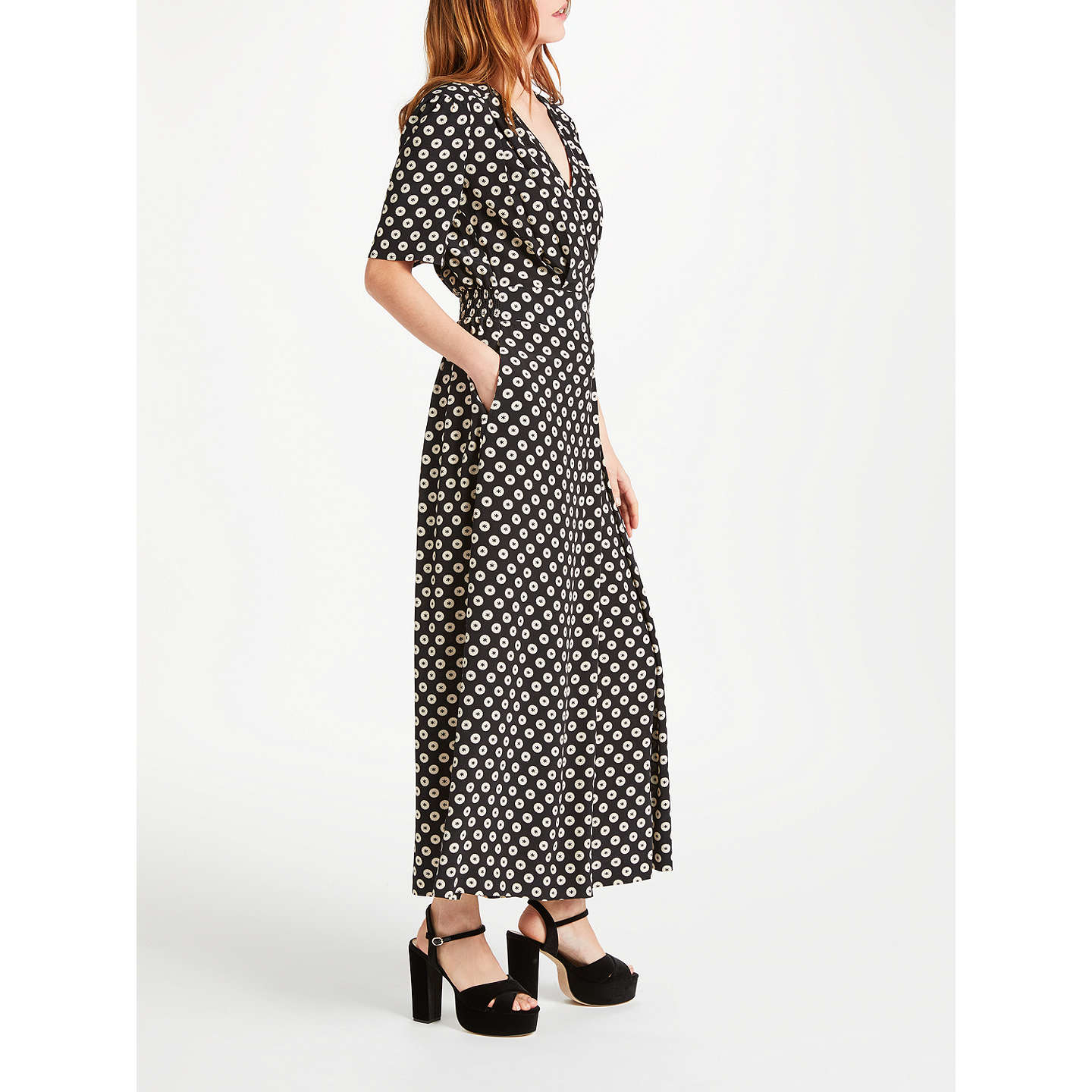 BuySomerset by Alice Temperley Printed Jumpsuit, Black, 8 Online at johnlewis.com