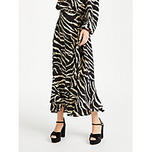 Buy Somerset by Alice Temperley Zebra Ruffle Skirt, Black Online at johnlewis.com