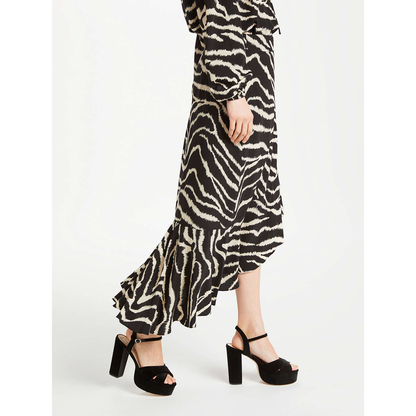 BuySomerset by Alice Temperley Zebra Ruffle Skirt, Black, 8 Online at johnlewis.com