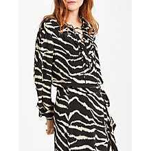 Buy Somerset by Alice Temperley Zebra Lace Up Blouse, Black/Print Online at johnlewis.com