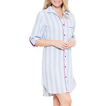 Buy Cyberjammies Florence Stripe Nightshirt, Blue/Ivory Online at johnlewis.com