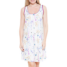 Buy Cyberjammies Florence Floral Print Chemise, Ivory/Purple Online at johnlewis.com