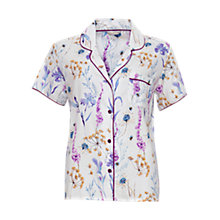Buy Cyberjammies Florence Print Pyjama Top, Ivory/Purple Online at johnlewis.com