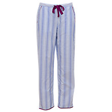 Buy Cyberjammies Florence Stripe Cotton Pyjama Bottoms, Blue/White Online at johnlewis.com