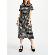 Buy Somerset by Alice Temperley Banana Spot Shirt Dress, Black/Print Online at johnlewis.com