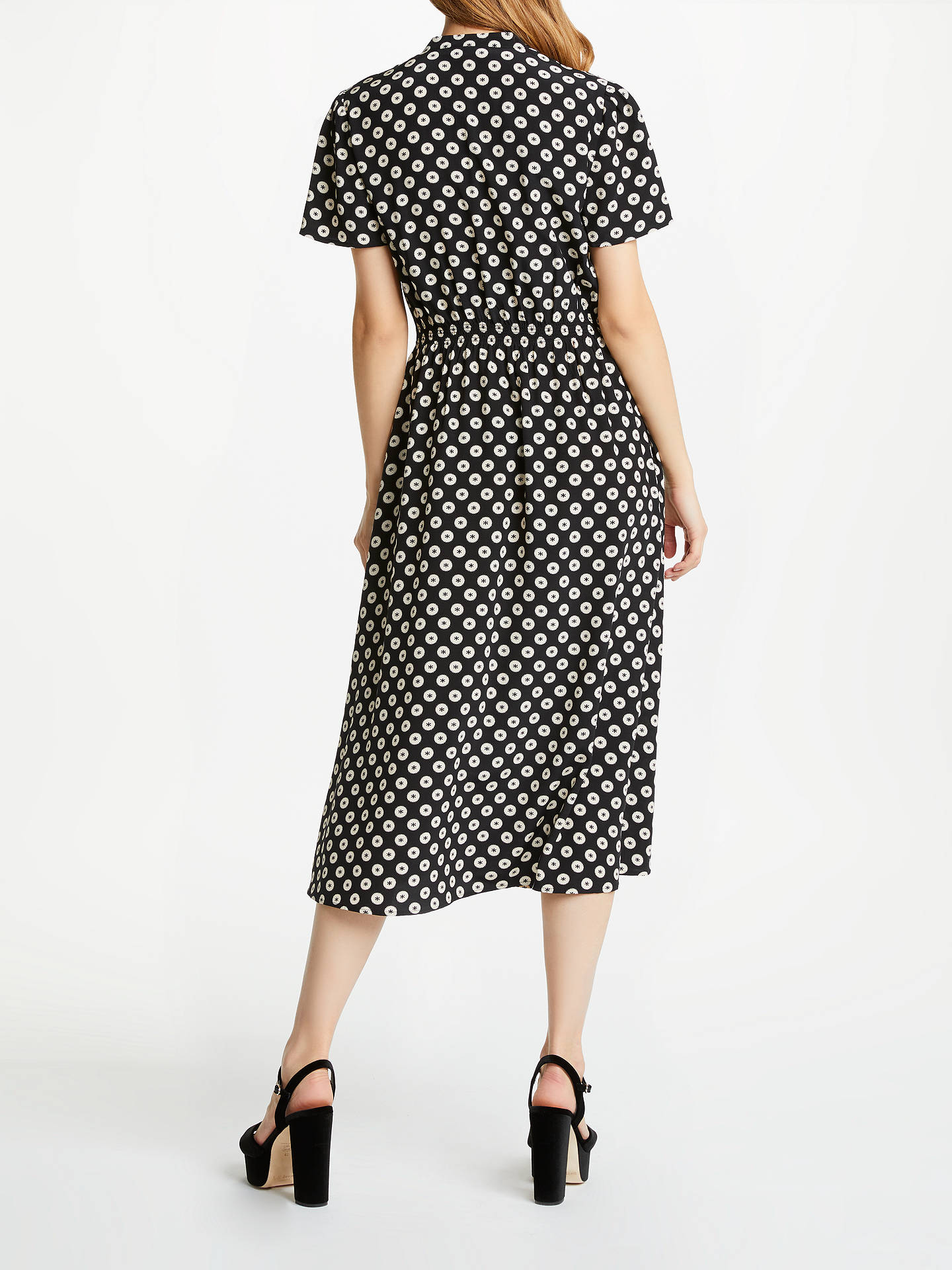 BuySomerset by Alice Temperley Banana Spot Shirt Dress, Black/Print, 8 Online at johnlewis.com