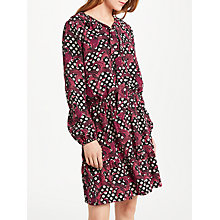 Buy Somerset by Alice Temperley Banana Leaf Ruffle Dress, Black Online at johnlewis.com