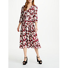 Buy Somerset by Alice Temperley V-Neck Midi Dress, Nude/Print Online at johnlewis.com
