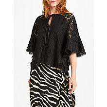 Buy Somerset by Alice Temperley Tie Neck Lace Top Online at johnlewis.com
