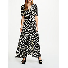 Buy Somerset by Alice Temperley Zebra Print Wrap Maxi Dress, Black Online at johnlewis.com