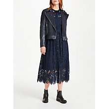 Buy Somerset by Alice Temperley Star Leather Jacket, Navy Online at johnlewis.com