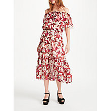 Buy Somerset by Alice Temperley Banana Leaf Off Shoulder Dress, Nude/Print Online at johnlewis.com