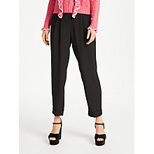 Buy Somerset by Alice Temperley Turn Up High Waist Trousers, Black Online at johnlewis.com